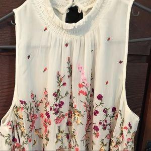 Floreat sleeveless floral blouse anthropologie XL